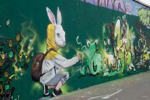 bunny easter graffiti