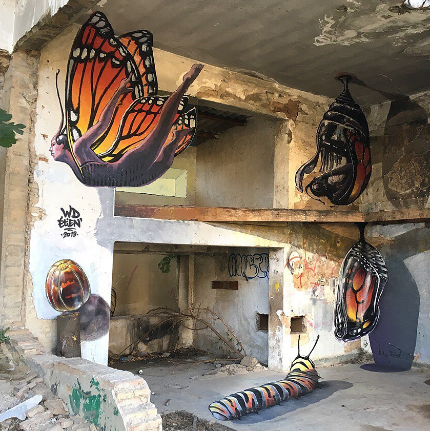 etien wd wilddrawing street art 3d art
