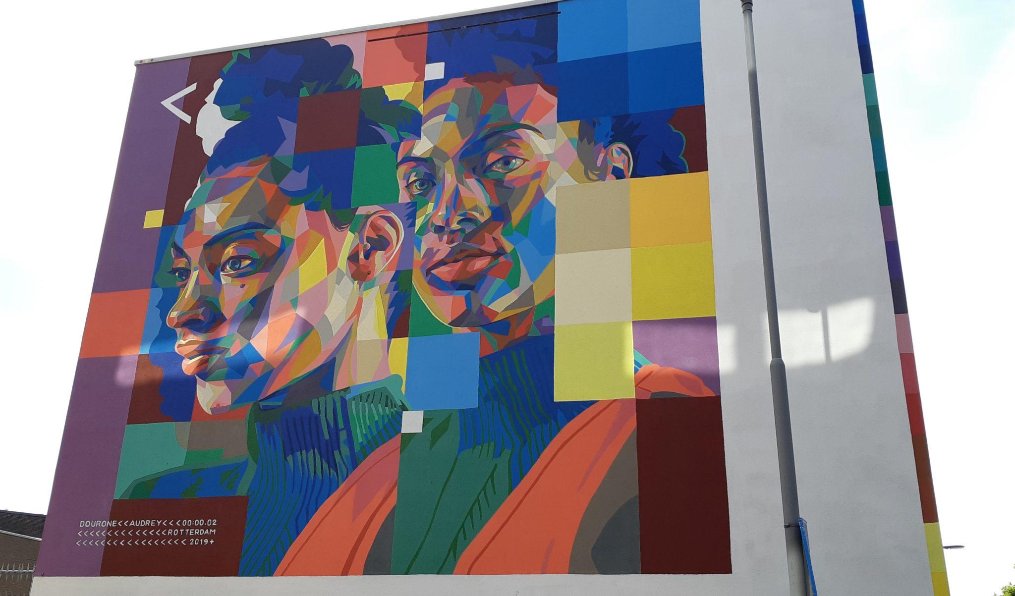 Dourone pow wow street art rotterdam