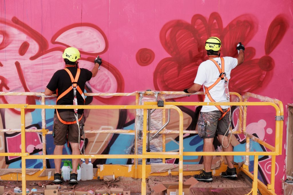 In process shot of PichiAvo at work. Photo by Fer Alcala.