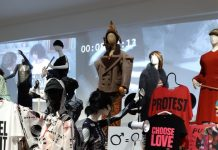 Femme Fatales protest at gemeente museum Den Haag