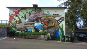 street art bunnys