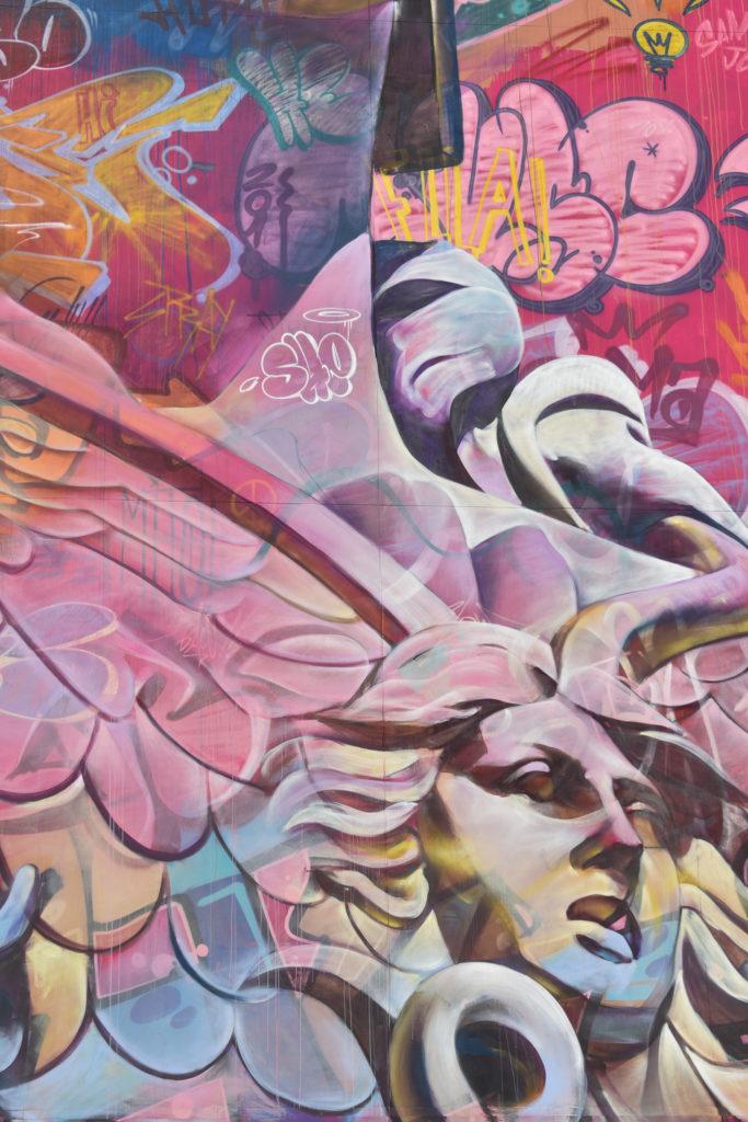 PichiAvo's Mural 'Athena' in Barcelona. Photo by No grey walls.