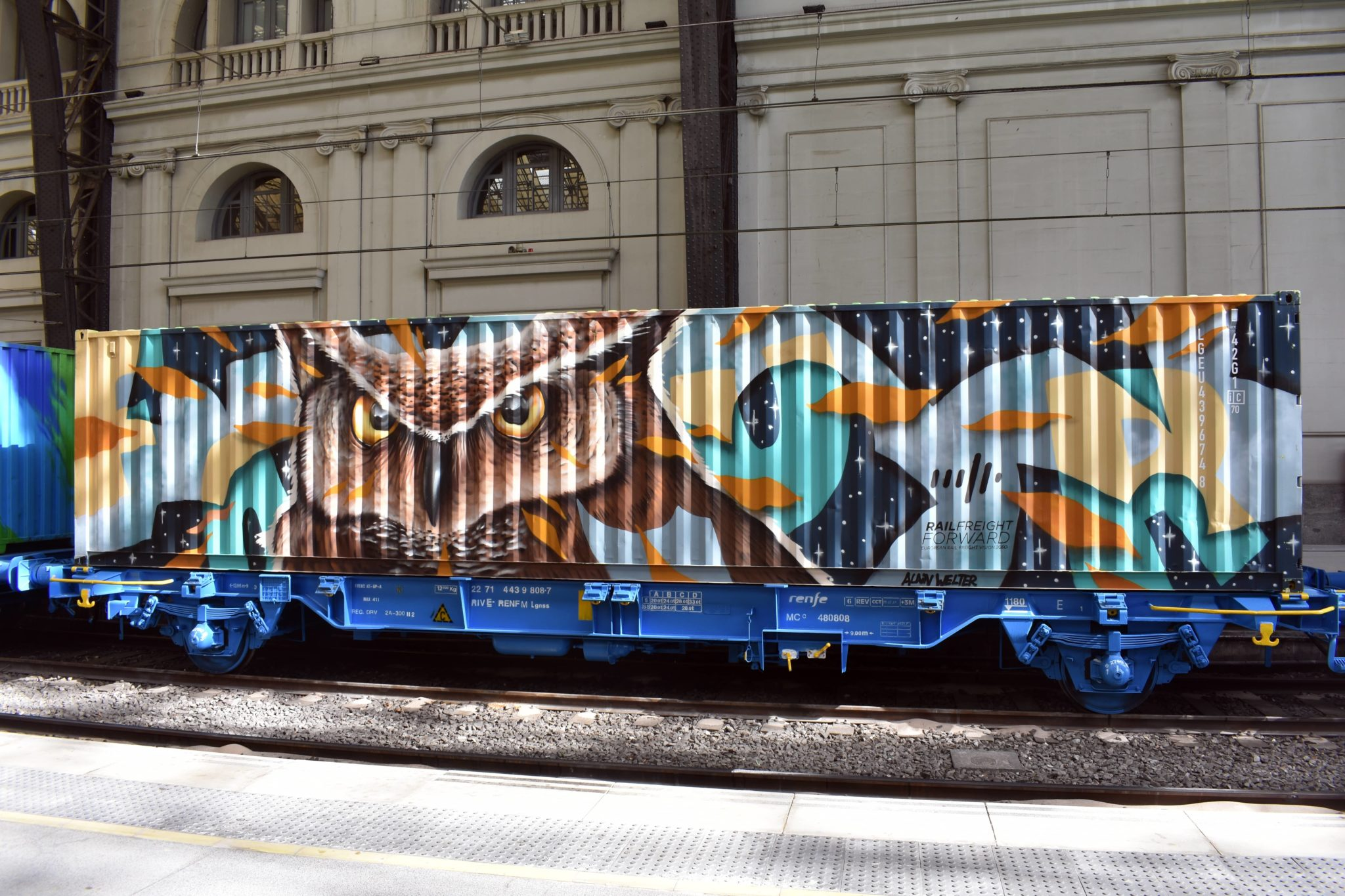 Alain Welter Noah's train Street art