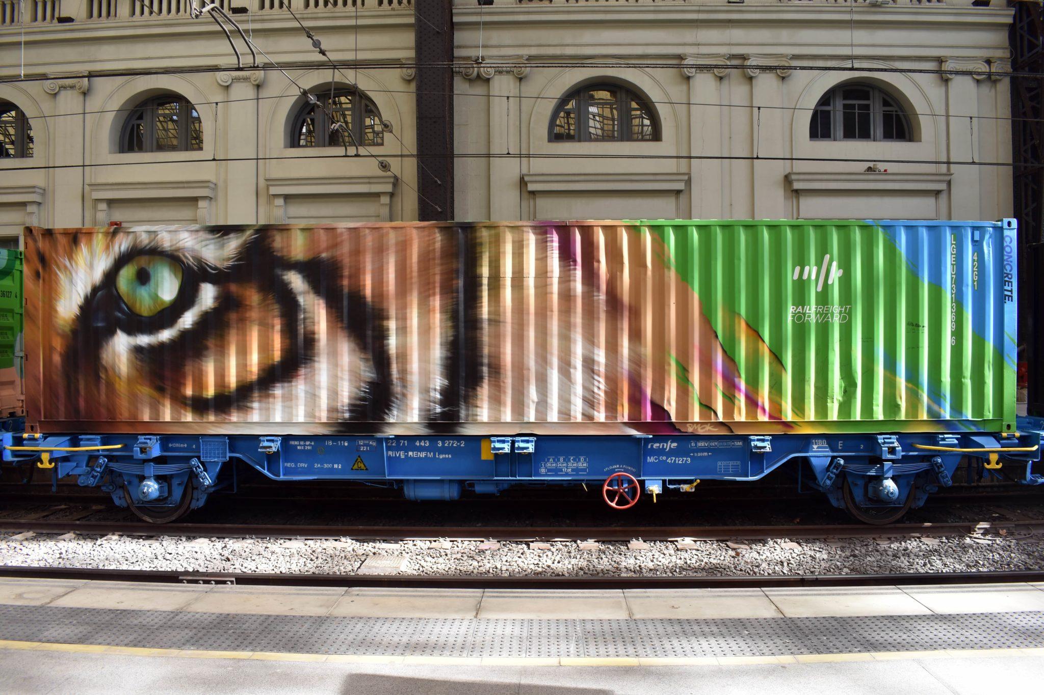 Sedr84 Noah's train street art