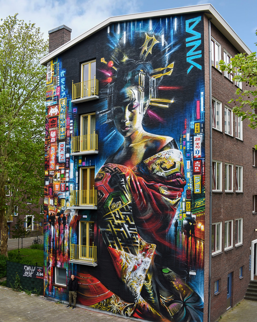 "Dan Kitchener for ""If Walls Could Speak"" festival by Amsterdam Street Art"