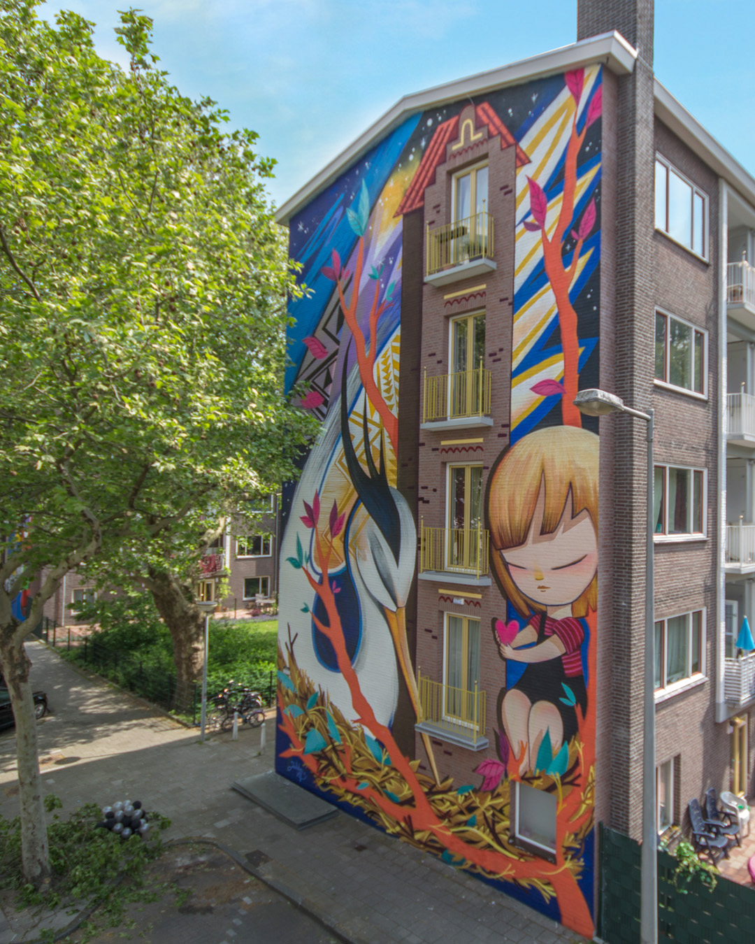 "Julieta XLF for ""If Walls Could Speak"" festival by Amsterdam Street Art Photo Beazarility"