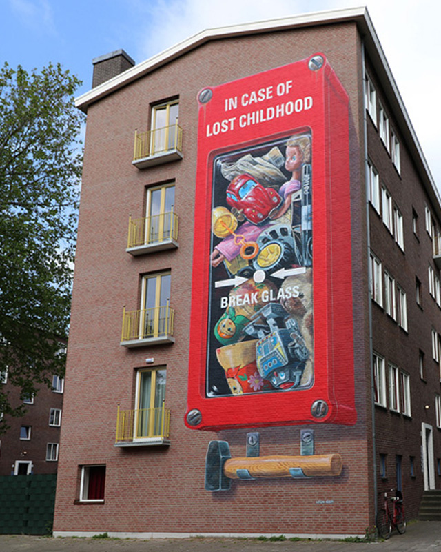 "Leon Keer for ""If Walls Could Speak"" festival by Amsterdam Street Art"
