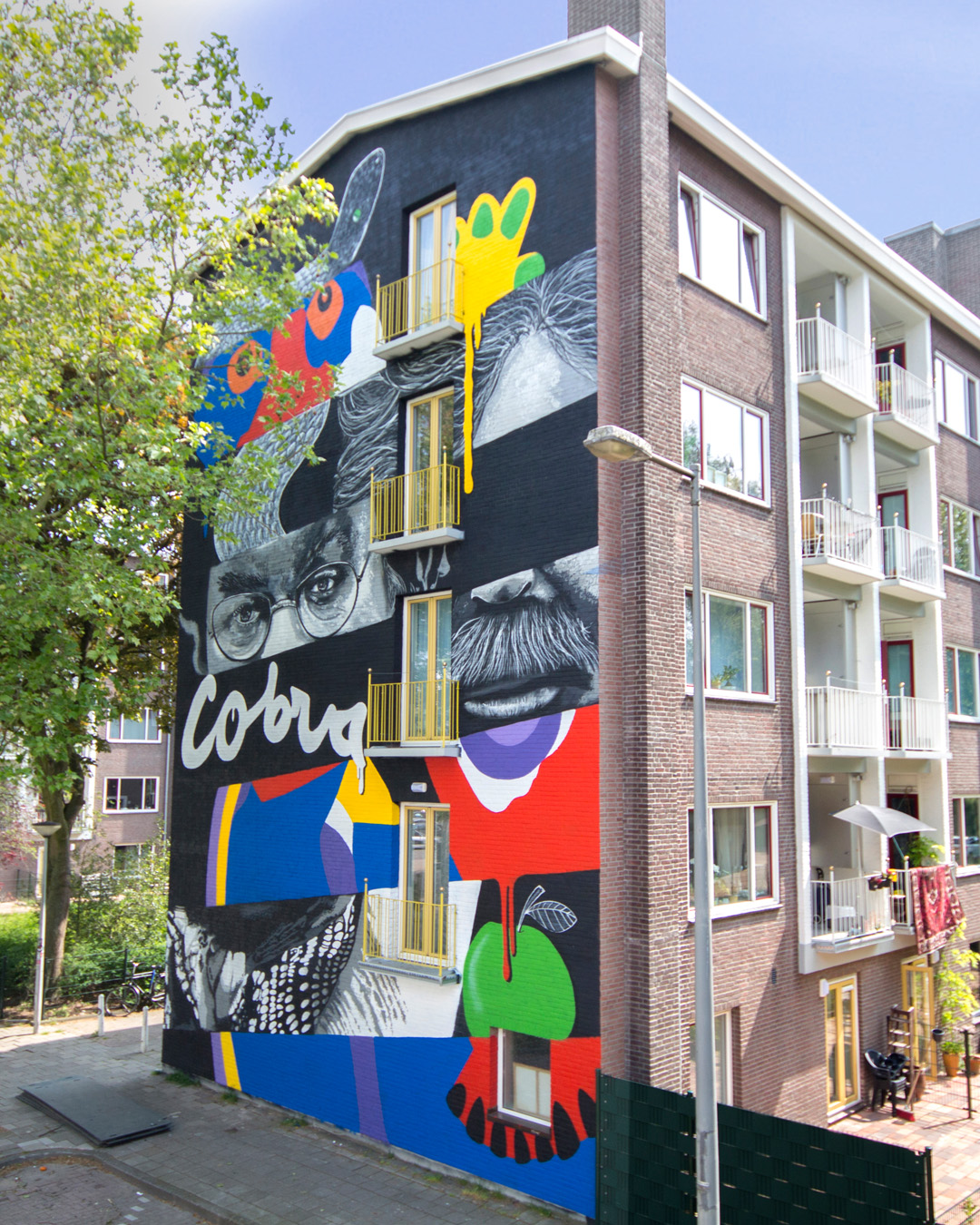 "Sjem Bakkus, IVES.one & Beazarility for ""If Walls Could Speak"" festival by Amsterdam Street Art"