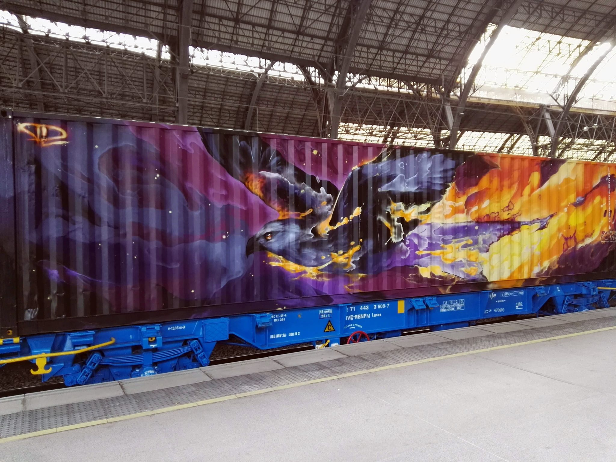 Daniel Mac Lloyd Noah's train street art