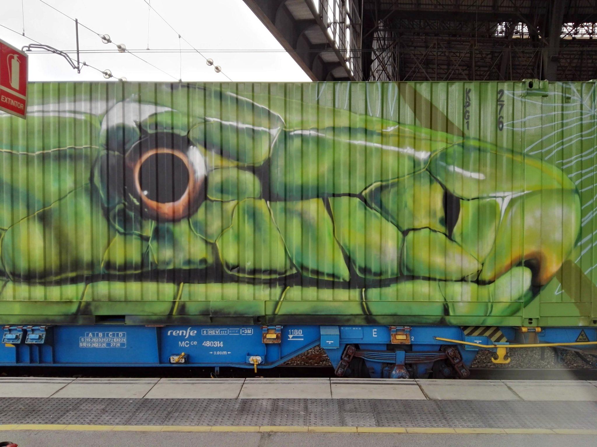 Neve Noah's train street art