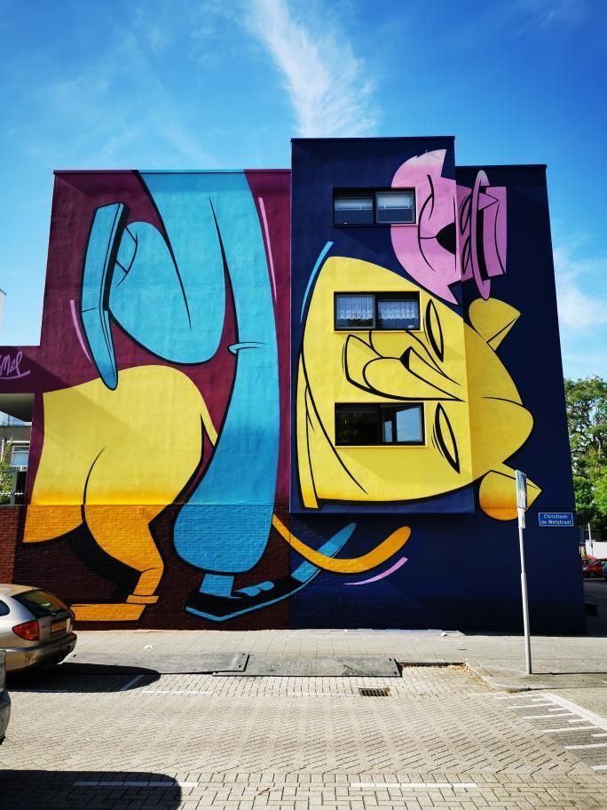 Danny Rumbl pow wow street art rotterdam