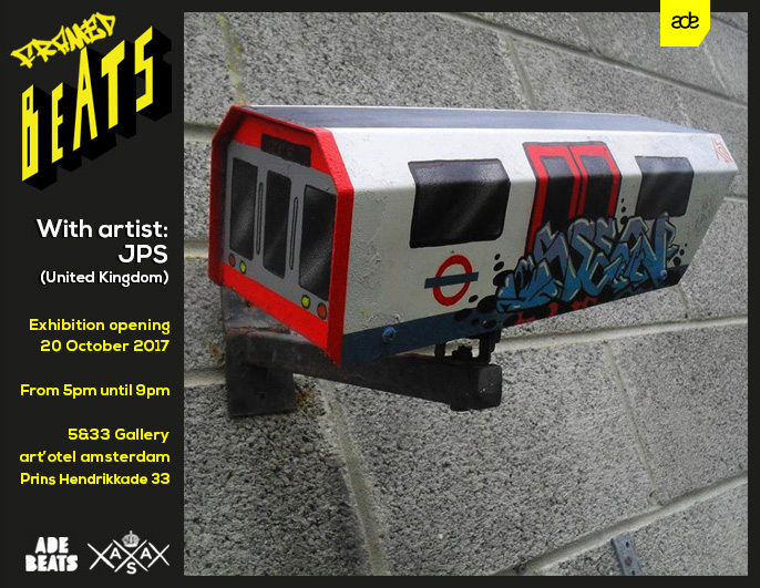 Framed Beats at 5&33 gallery by Amsterdam Street Art during Amsterdam Dance Event ADE JPS