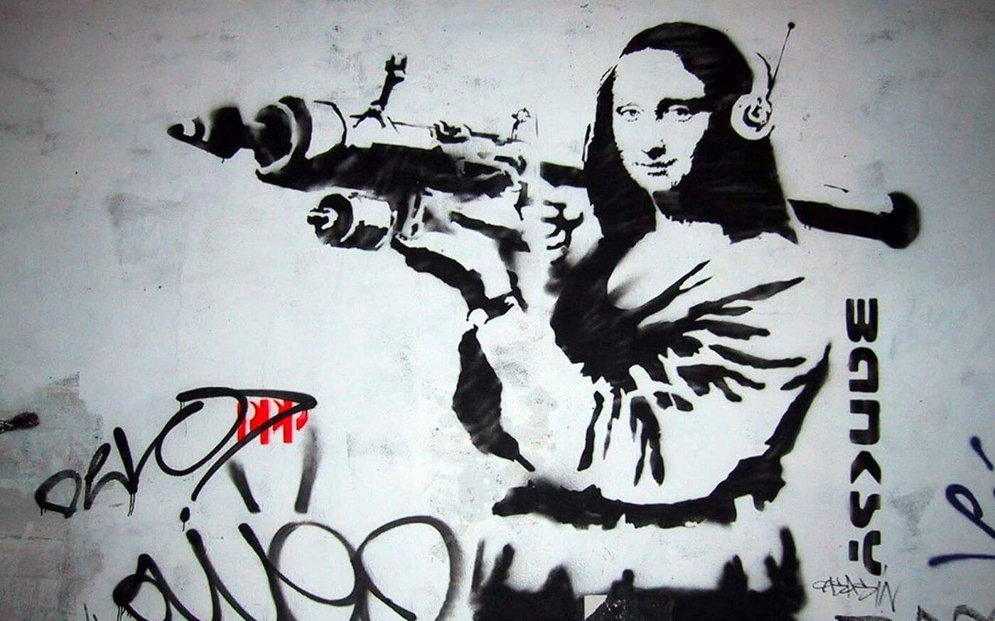 mona lisa by banksy