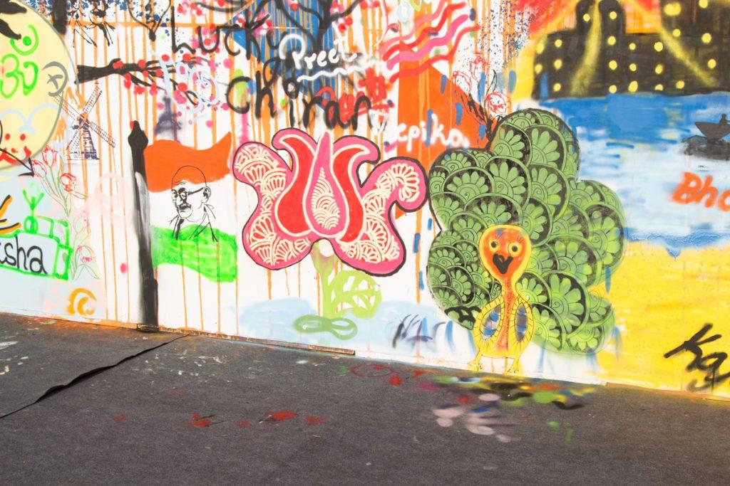 Amsterdam Street Art, Mumbai, Paint the city orange, collaboration, mural, workshop, street art
