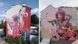 winning mural and mural in Berlin by TelmoMiel
