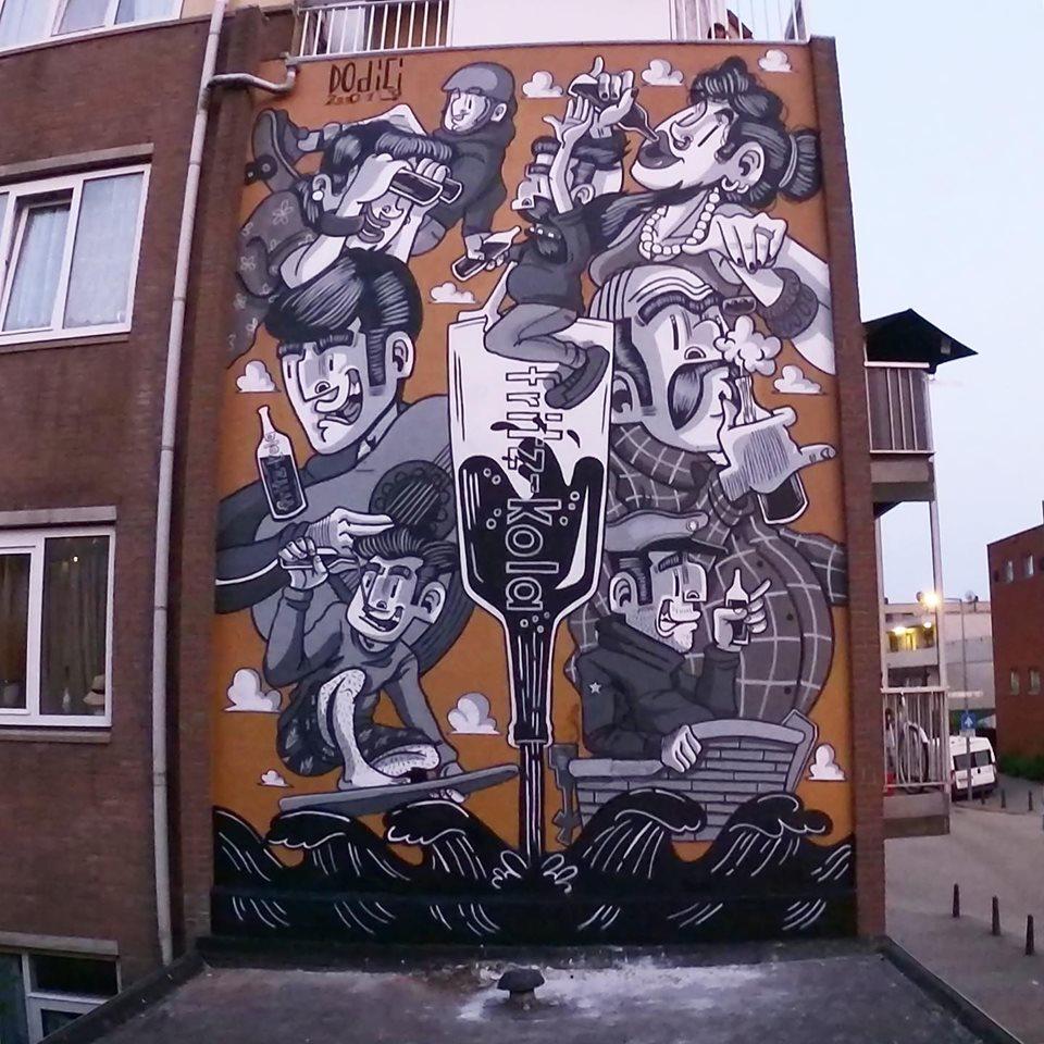 dodici street art rotterdam fritz cola