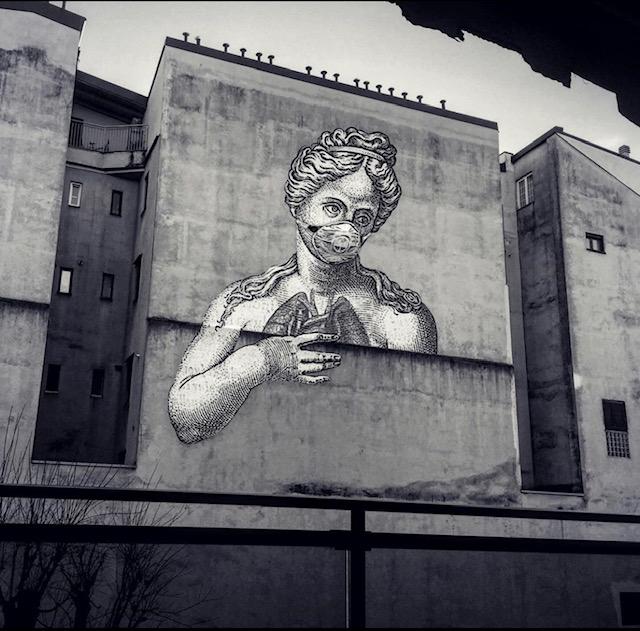 Guiseppe Ragazzini street art corona italy