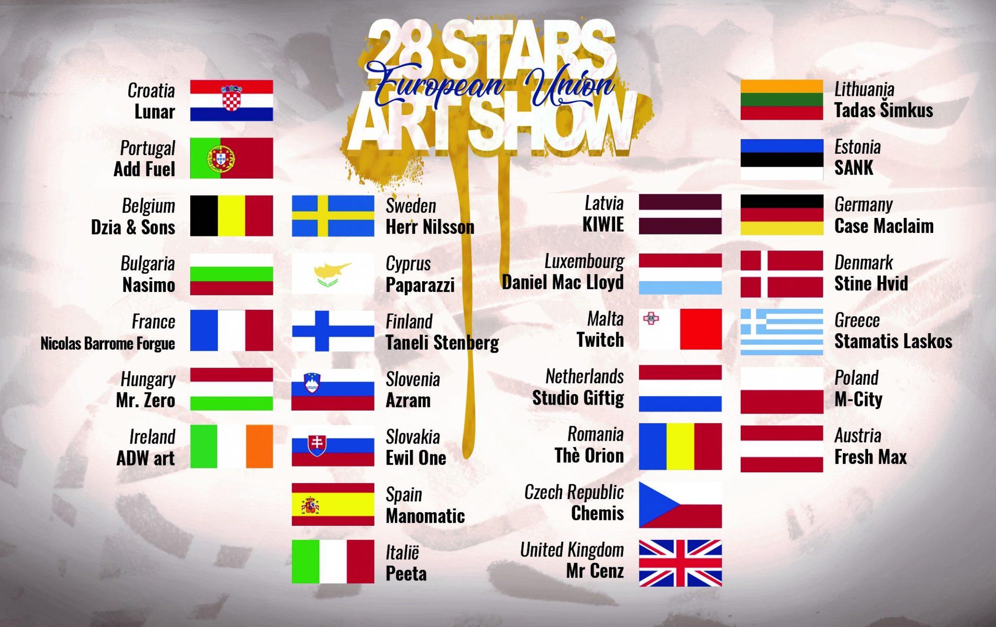 28 stars art show