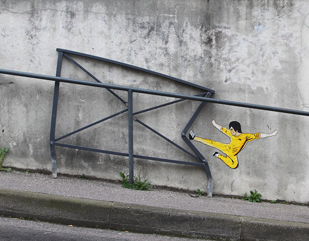 oak oak funny street art