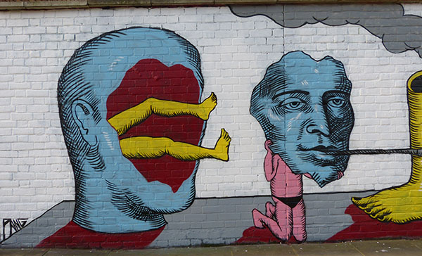 weird, street art, graffiti, mural