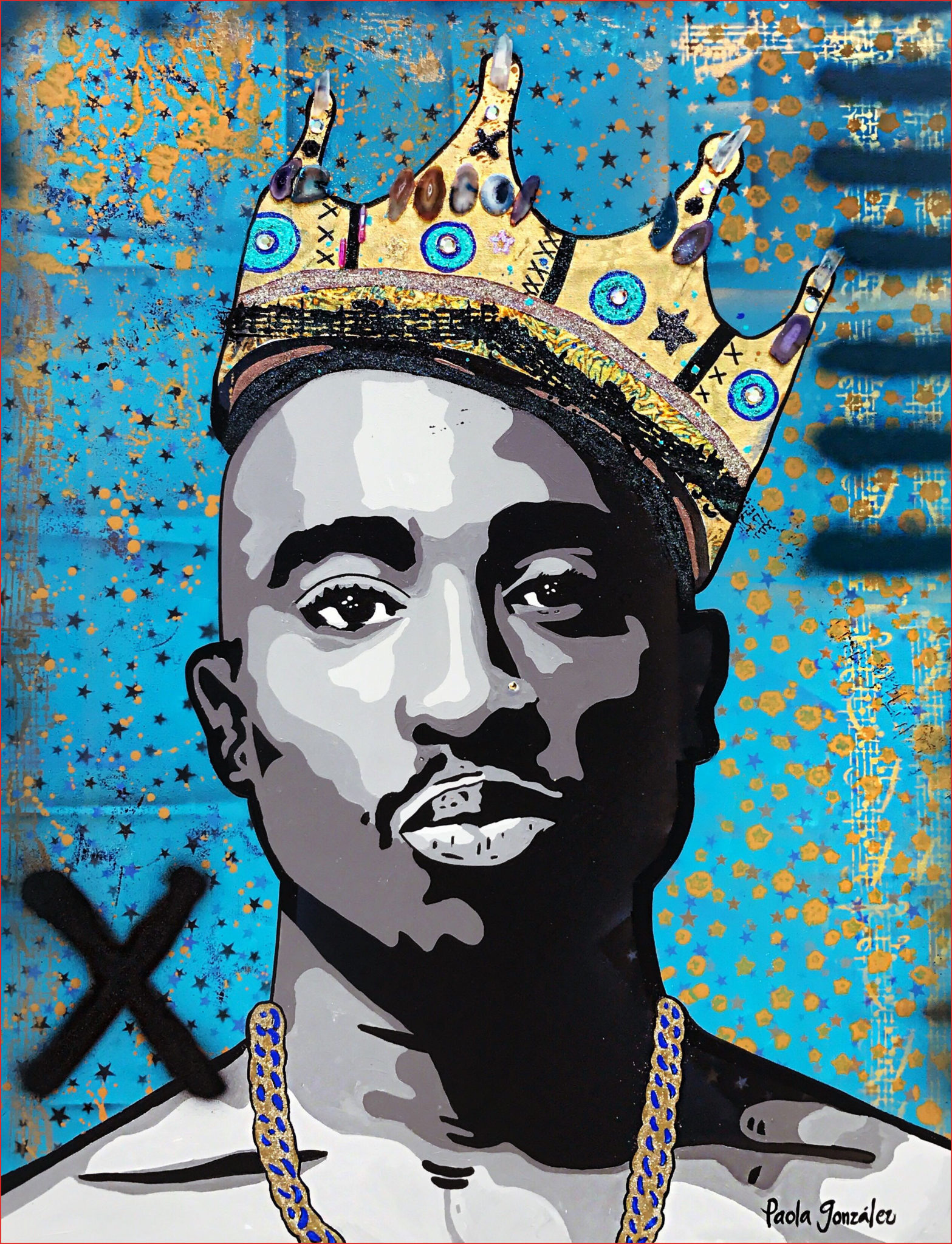 Tupac Drawing 158934 Tupac 2pac pop art icons art painting by Paola Gonzalez