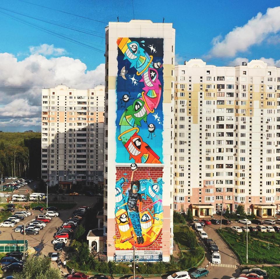pez barcelona street art russia