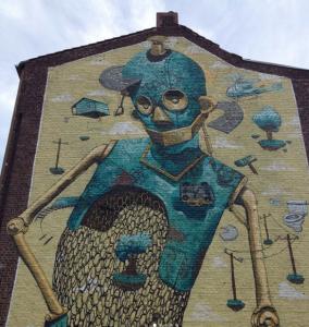 Mural by Pixel Pancho, Dusseldorf