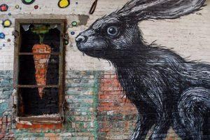 easter bunny street art